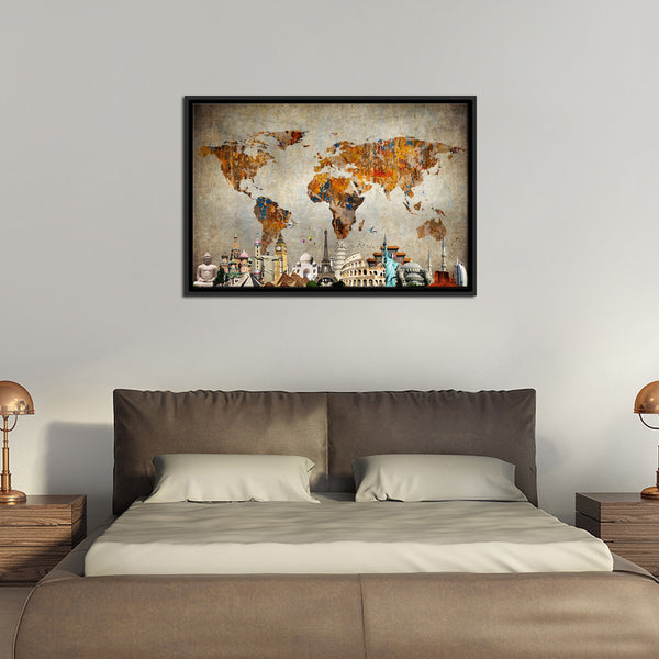 Colorful world map masterpiece multi panel canvas wall art colorful world map masterpiece multi panel canvas wall art gumiabroncs Gallery