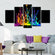 Color Splash Multi Panel Canvas Wall Art