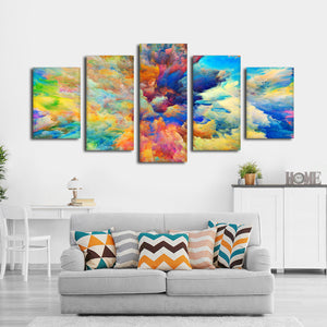 Color Explosion Multi Panel Canvas Wall Art - Color