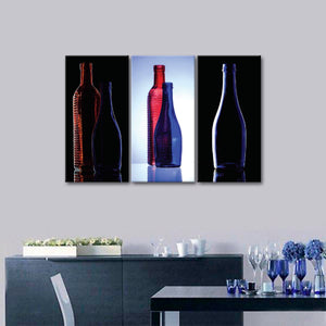 Bottled Up Canvas Set Wall Art - Winery