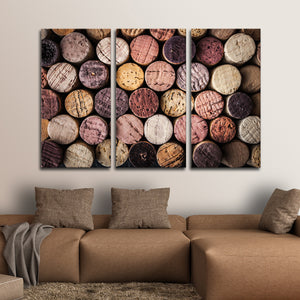 Colorful Corks Multi Panel Canvas Wall Art