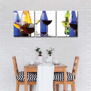 Vibrant Wine Canvas Set Wall Art - Winery