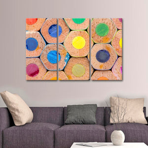 Colorful Pencils Multi Panel Canvas Wall Art - Color