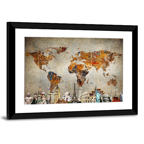 Colorful world map masterpiece multi panel canvas wall art colorful world map masterpiece multi panel canvas wall art gumiabroncs Images