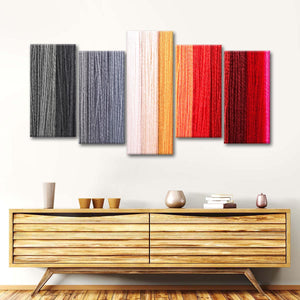 Colorful Yarns Multi Panel Canvas Wall Art - Fabric