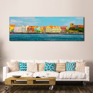 Colorful Curacao Multi Panel Canvas Wall Art - Village