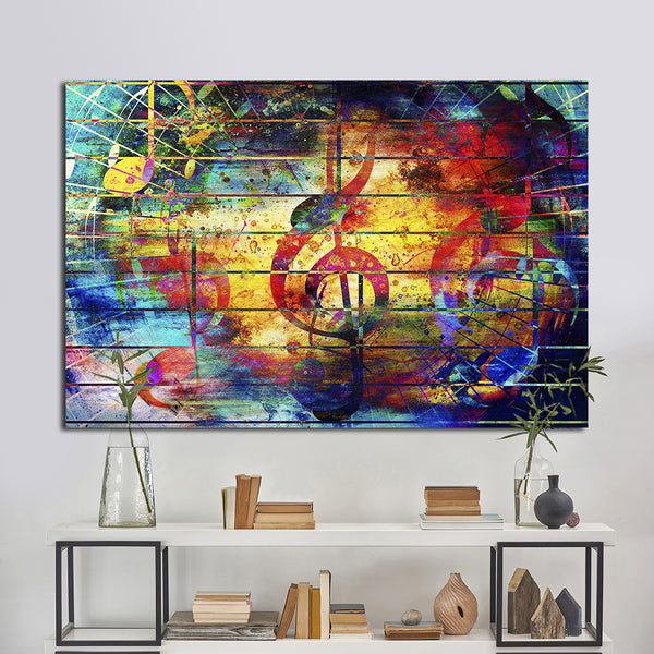 Superbe Colorful Music Multi Panel Canvas Wall Art