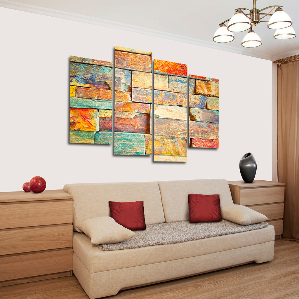 Colorful Wall Decor: Colorful Wall Multi Panel Canvas Wall Art