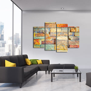 Colorful Wall Multi Panel Canvas Wall Art - Macro