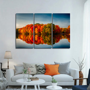 Colors of Fall Multi Panel Canvas Wall Art - Nature