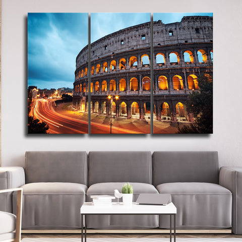 Search results page 68 elephantstock colosseum view multi panel canvas wall artlayout 3 horizontal by elephantstock will complement any type of room and become an amazing focal point sciox Images