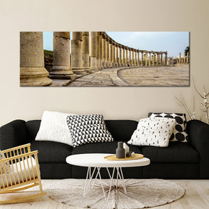 Column Panoramic Multi Panel Canvas Wall Art - City