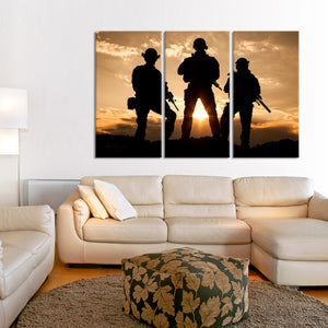 Coming Home Multi Panel Canvas Wall Art - Army
