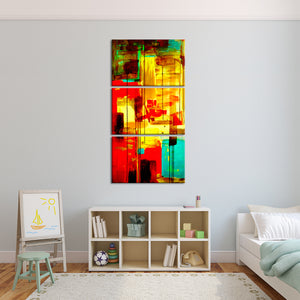 Composition By Greg Multi Panel Canvas Wall Art - Abstract