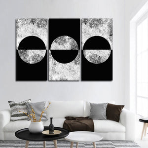 Concrete Circles Multi Panel Canvas Wall Art - Geometric