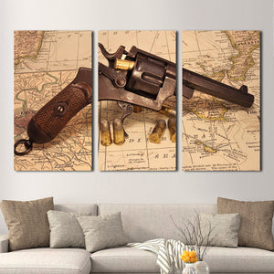 Conquer The World Multi Panel Canvas Wall Art - World_map