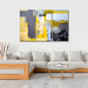 Abstract Expressionism Multi Panel Canvas Wall Art - Abstract