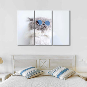 Cool Cat Multi Panel Canvas Wall Art - Cat