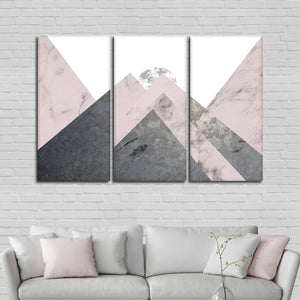 Cool Landscape Multi Panel Canvas Wall Art - Geometric