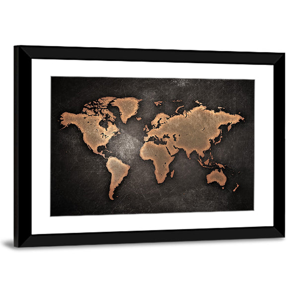 Copper world map multi panel canvas wall art elephantstock copper world map multi panel canvas wall art gumiabroncs Images