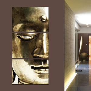 Metallic Buddha Multi Panel Canvas Wall Art - Buddhism