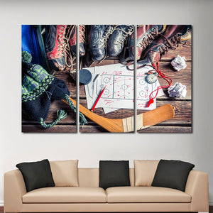 Tactics In Hockey Multi Panel Canvas Wall Art - Hockey