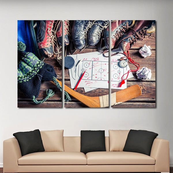 Tactics In Hockey Multi Panel Canvas Wall Art