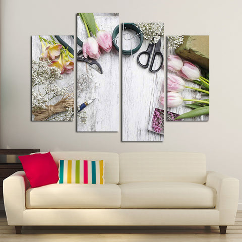 Florist Workshop Multi Panel Canvas Wall Art
