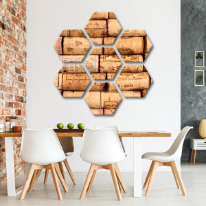 Corks Wall Multi Panel Canvas Wall Art - Winery