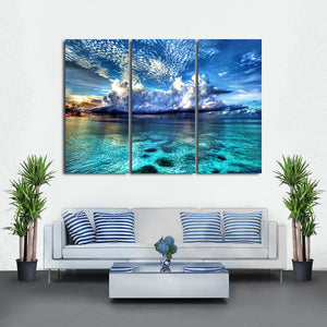 Cozumel Island Multi Panel Canvas Wall Art - Beach