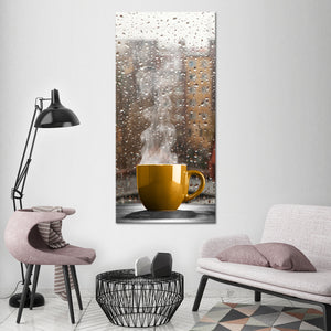 Cozy Morning Multi Panel Canvas Wall Art - Coffee