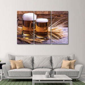Craft Beer Multi Panel Canvas Wall Art - Winery
