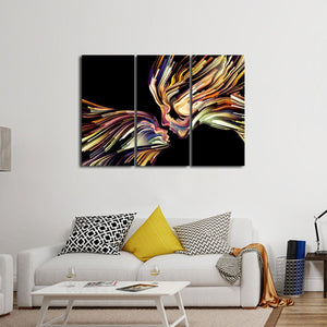 Creative Profile Multi Panel Canvas Wall Art - Color