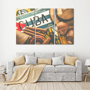 Cuban Pride Multi Panel Canvas Wall Art - Cuba