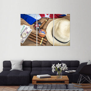 Cuban Vacation Multi Panel Canvas Wall Art - Cuba