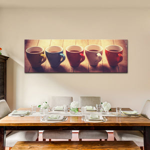 Grab Your Favorite Coffee Multi Panel Canvas Wall Art - Coffee