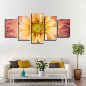 Dahlia Multi Panel Canvas Wall Art - Flower