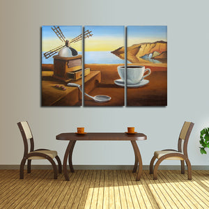 Dali Coffee Multi Panel Canvas Wall Art - Coffee