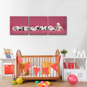 Dalmatian Puppies Multi Panel Canvas Wall Art - Dog