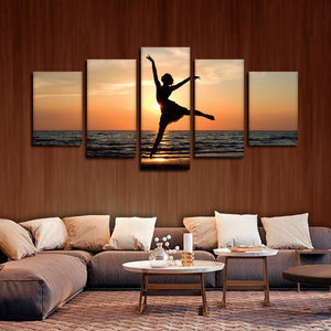 Dance At Sunset Multi Panel Canvas Wall Art - Dance