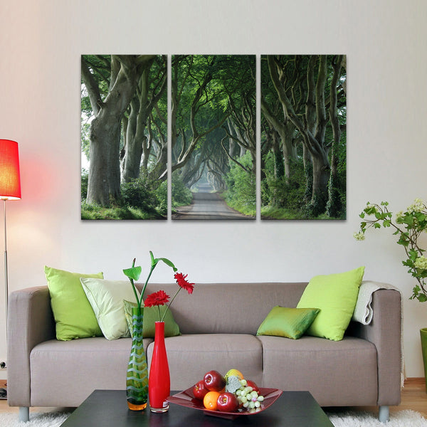 Dark Hedges Multi Panel Canvas Wall Art