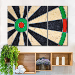 Dart Board Closeup Multi Panel Canvas Wall Art - Darts