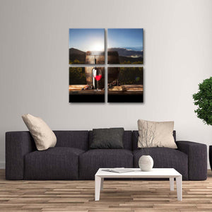 Dawn Of Merlot Multi Panel Canvas Wall Art - Winery