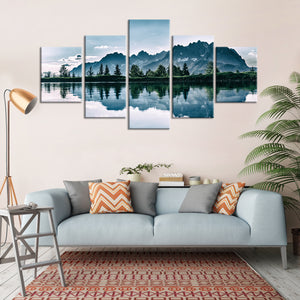 Daylight Nature Reflection Multi Panel Canvas Wall Art - Nature