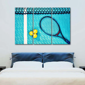 Deep Shot Win Multi Panel Canvas Wall Art - Tennis