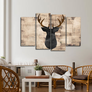 Deer Deco Multi Panel Canvas Wall Art - Deer