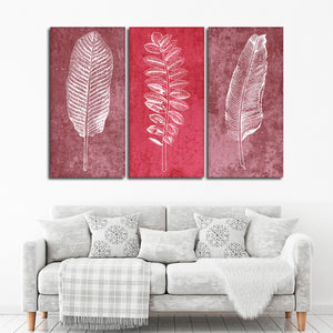 Delicate Leaves Canvas Set Wall Art - Botanical