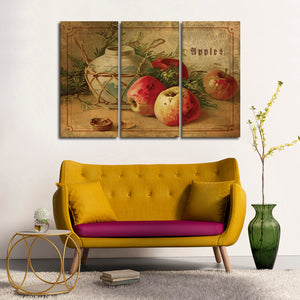 Delicious Apples Multi Panel Canvas Wall Art - Kitchen