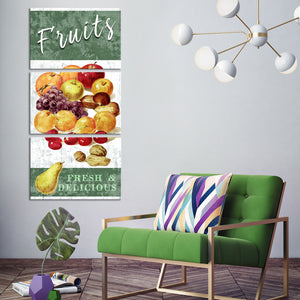 Delicious Fruits Multi Panel Canvas Wall Art - Kitchen