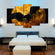 Demon Bat Multi Panel Canvas Wall Art